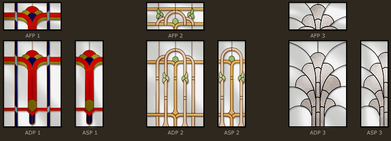 Art Deco Stained glass desgns 1