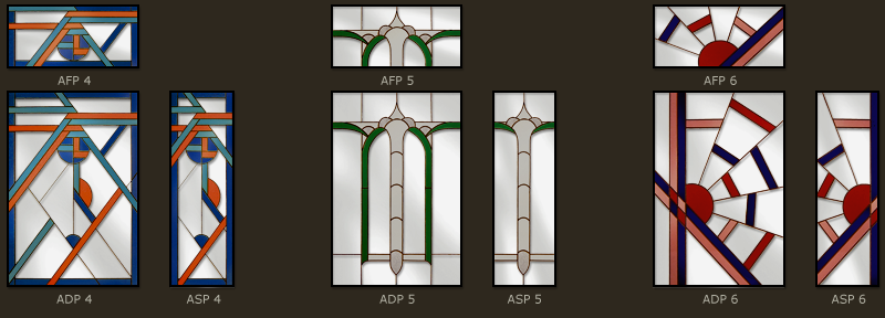 Art Deco Stained glass designs 2
