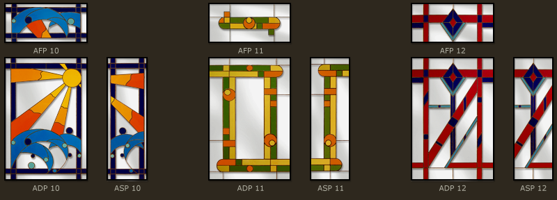 Art Deco Stained glass windows 4