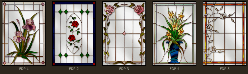Floral stained glass windows 1