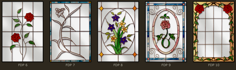 Floral stained glass windows 2
