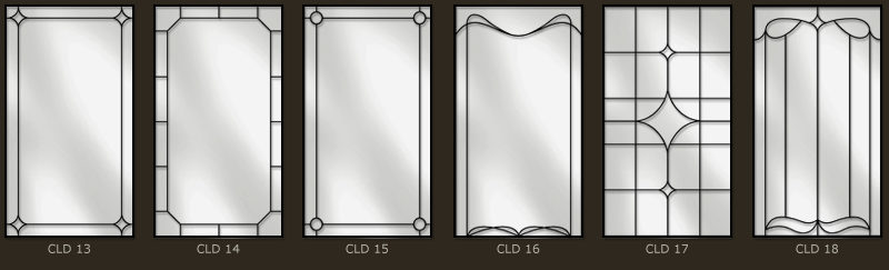 Simple leaded glass for doors and windows 3
