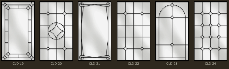 Simple leaded glass for doors and windows 4