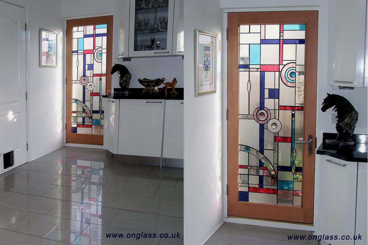 Custom stained glass windows art deco jewelled bevel glass full length door planetlyrics Images