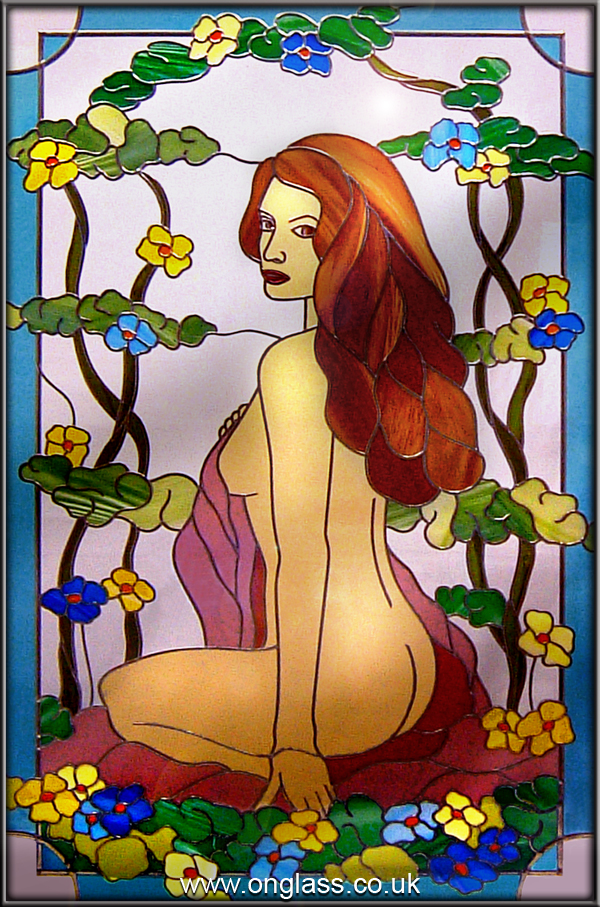 Stained glass nude