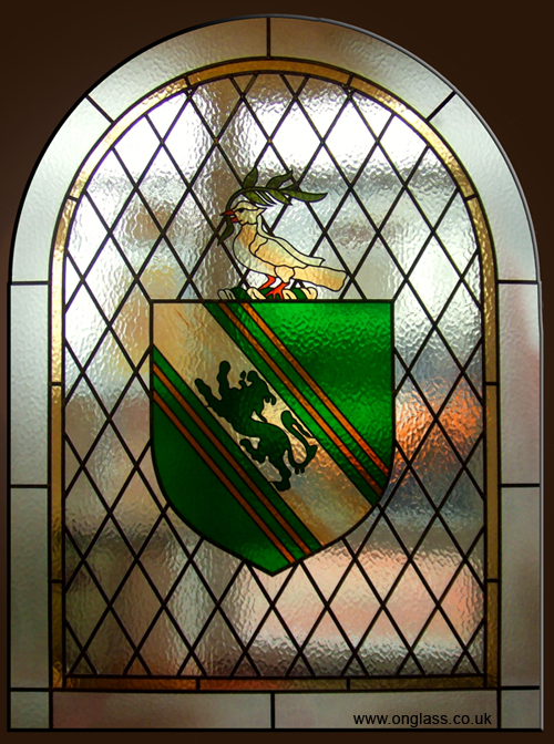 Coat of Arms stained glass window